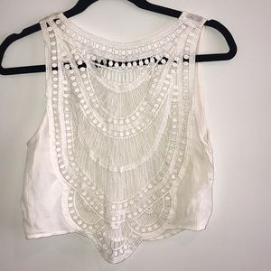 Coachella edition of H&M knitted crop top